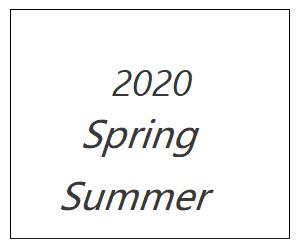 2020年春夏コレクション